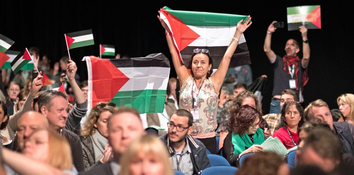 Model motion: Free speech on Palestine! No confidence in Starmer and Evans!