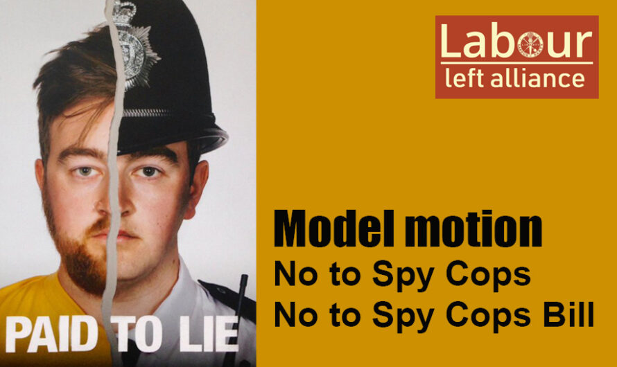 "Model Motions on the ""SpyCops Bill"""