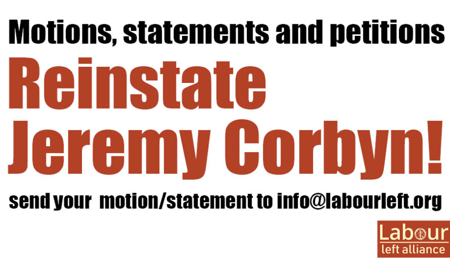 Jeremy Corbyn and free speech: Motions, petitions and statements