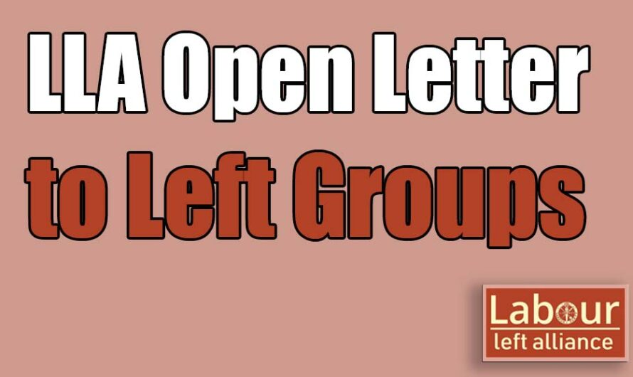 LLA Open Letter to Left Organisations