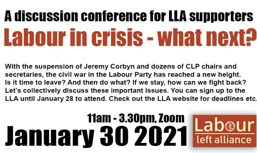 Results: Labour in crisis – what next? A discussion conference for LLA supporters