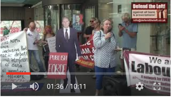 VIDEO: Highlights from the July 20 Labour NEC protest